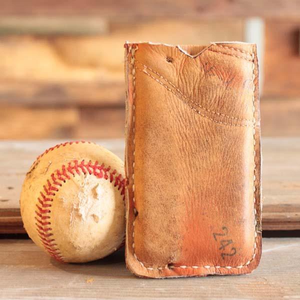Handmade Recycled Baseball Glove Iphone Case Gadgetsin