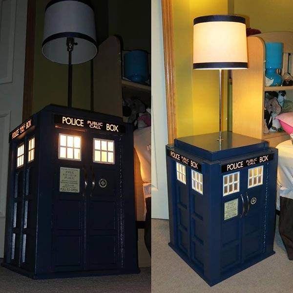 Build Your Own Tardis Bedside Table With Built In Lamp