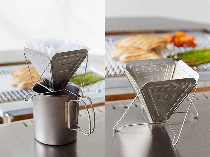 Snow Peak Collapsible Pour Over Coffee Maker Ready To