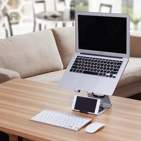 Apex Portable Laptop Stand With Integrated Iphone Stand