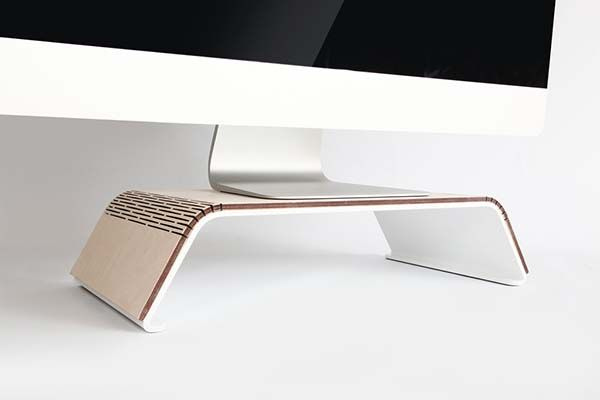 Handmade Minimal Steel Monitor Stand With Detachable